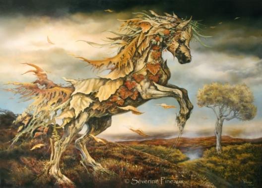 """Bild: """"Herbstpferd"""" von Séverine Pineaux"""