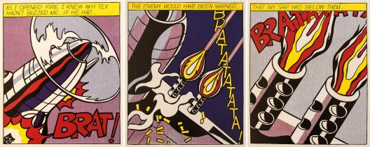 """Bild: """"As I opened fire"""" von Roy Lichtenstein"""